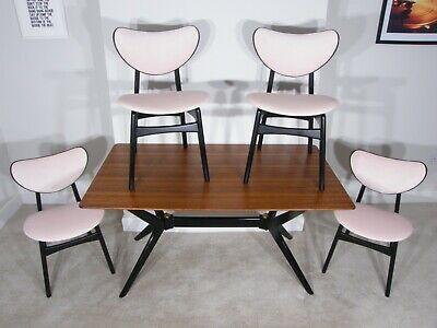 £950 • Buy E Gomme For G Plan - 'helicopter' Teak Dining Table & 4 Butterfly Dining Chairs
