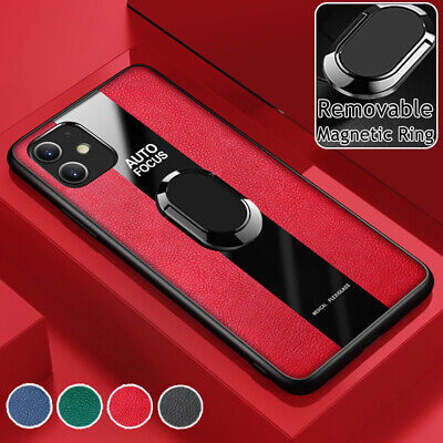 AU10.99 • Buy For IPhone 13 12 11 Pro Max XS/X XR 7 8 Plus Case Leather Shockproof Ring Cover