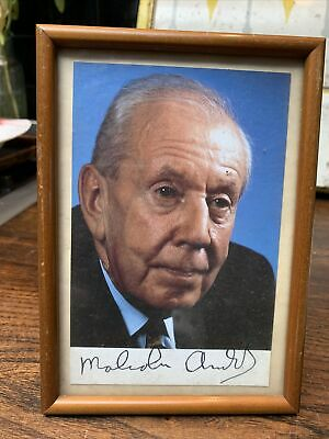 £50 • Buy Signed Postcard Sir Malcolm Arnold  Composer Music Photo Picture In A Frame