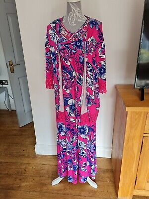£4.99 • Buy BNWT Ladies SOUTH Size 16 Maxi Dress And Size 20/22 Jacket Blue And Pink