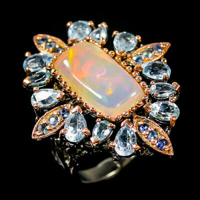 £58.19 • Buy 6ct+ Super Top AAA Opal Ring Silver 925 Sterling  Size 8.5 /R172510