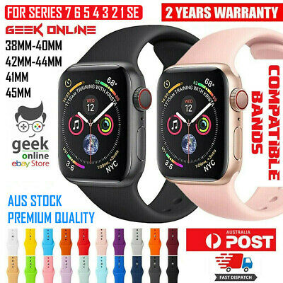 AU5.85 • Buy For Apple Watch IWatch Sports Band Series 6 5 4 3 2 1 SE 44mm 42 40mm 38mm Strap