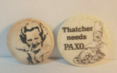 £3.99 • Buy Two  Rare Original Punk/political Early 80s Margret Thatcher Badges