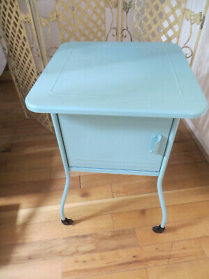 £14.99 • Buy IKEA Vettre Metal Turquoise Cabinet On Wheels 45 X 45 X 68 Used Good Cond