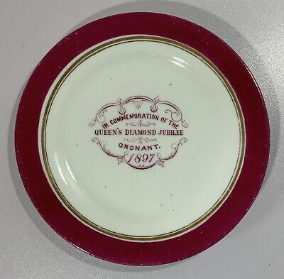 £12.50 • Buy Rare Queen Victoria 1897 Diamond Jubilee Small Plate From Gronant, North Wales