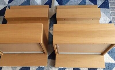 £5 • Buy Pair X 2 IKEA Malm Bedside Tables In Oak Veneer (one Drawer, Attach To Malm Bed)