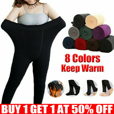 £2.99 • Buy Women Ladies Winter Warm Fleece Lined Thick Thermal Full Foot Tights Pants UK