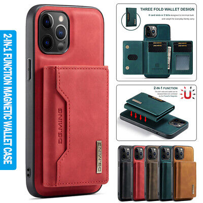 AU17.89 • Buy For IPhone 13 12 11 Pro Max 8/7 Plus XR 2in1 Magnetic Case Leather Wallet Cover