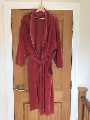 £2.80 • Buy Womans Pink Velour Dressing Gown Size 16-18