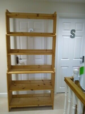 £30 • Buy Wooden 6 Shelf Tall Bookcase Or Shelving