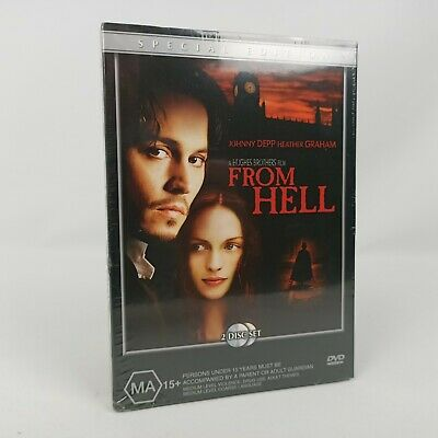 AU12.79 • Buy NEW From Hell Special Edition 2x Disc DVD 2001 Johnny Depp Region 4 Free Postage