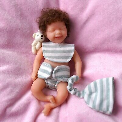 £26.31 • Buy 15cm Reborn Silicone Dolls Realistic Mini Smile Baby Washable Hair-rooted Girl