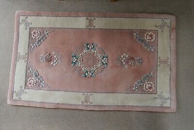 £15 • Buy Chinese Wool Rug Approx 5 Foot X 3 Foot