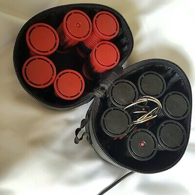 £4.70 • Buy Nicky Clarke Classic Travel HEATED ROLLERS Hair Curlers Compact In Case