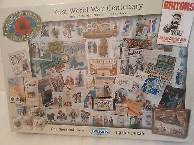£5.99 • Buy FIRST WORLD WAR CENTENARY -Jigsaw Puzzle : 1000 Pieces (NEW & SEALED)