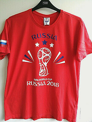 £9.99 • Buy 2018 Fifa World Cup Russia Football Cotton In Red New T-shirt Men Ladies Size L