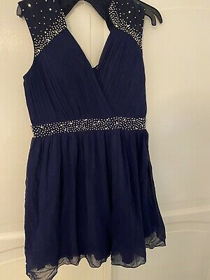 £3.24 • Buy Little Mistress Blue Formal Dress Size 14 New With Tags