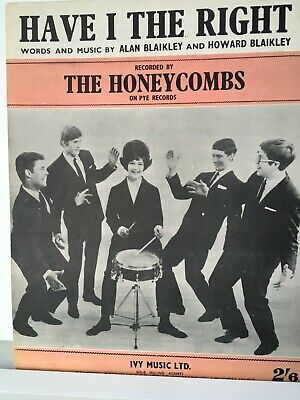 £3.99 • Buy Vintage Original UK #1 Sheet Music - Have I The Right - The Honeycombs (1964)