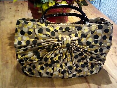 £55 • Buy Lulu Guinness Wanda Bow/Spot Bag Gold/Black - In Excellent Condition