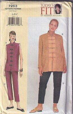 £1.99 • Buy Vogue 7263 Sandra Betzina Chinese Look Jacket And Trousers Size 10-14