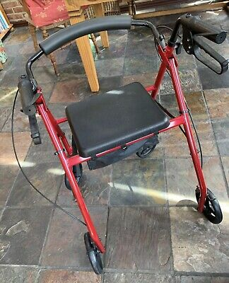 £40 • Buy 4 Wheel Mobility Walker With Seat ,storage And Brakes
