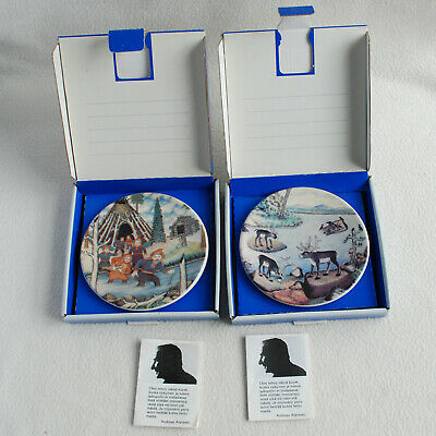 £9.99 • Buy Two 1983 Arabia Finland Plates By  Finish Artist A. Alariesto Boxed Excellent