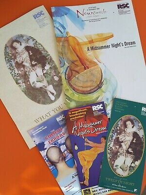 £10 • Buy 2 RSC Programmes Midsummer Nights Dream & What You Will Flyers Lot Bundle