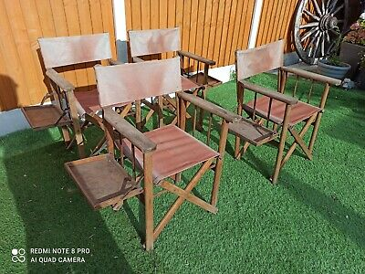 £100 • Buy Vintage Directors Chair Wood Frame Folding Garden Camping Made In England