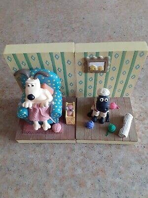 £20 • Buy Wallace & Gromit Shaun The Sheep Vintage Book Ends Without Box