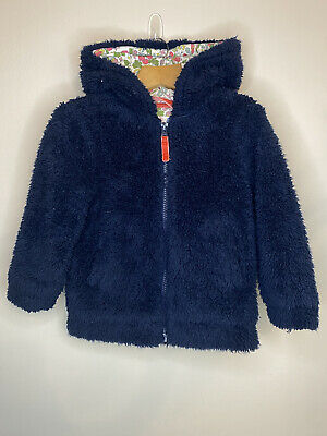 £9.99 • Buy Mini Boden Girls Fluffy Hooded Zip Up Jacket Age 3-4