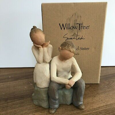 £28.99 • Buy Willow Tree Brother And Sister Resin Figurine 26187 Susan Lordi 2007