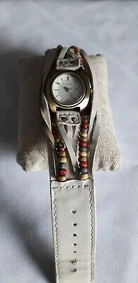£5 • Buy Kahuna KLS 0202L Wrist Watch With Cream Leather And Bead Strap