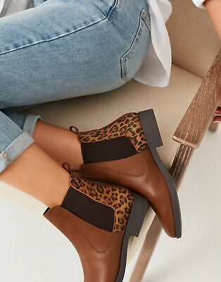 £27 • Buy Joules Womens Chelmsford Chelsea Boots - Leopard - Adult 7