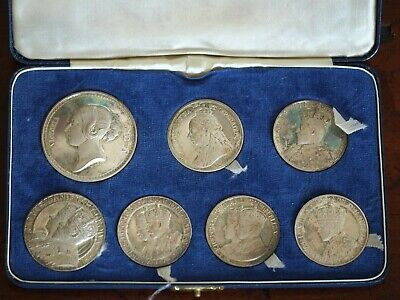 £700 • Buy 1967 John Pinches Sterling Silver Coronations And Jubilees Medallic Cased Set