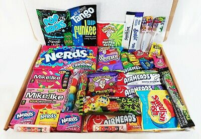 £16.99 • Buy American Sweets Gift Box USA Candy Warheads Nerds Airheads Drink Mix Hard Candy