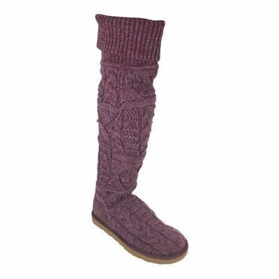£109.95 • Buy NEW UGG Womens Classic Tall 3174 Over The Knee Twisted Cable Knit Boot Sz 7
