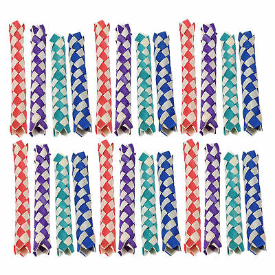 £7.75 • Buy Chinese Bamboo Finger Trap Finger Trap Natural With Natural Bambo For Bird Toys