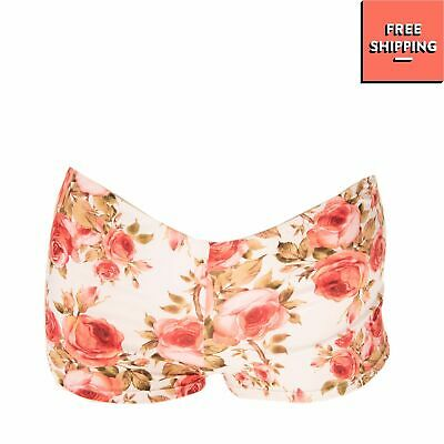 £0.99 • Buy MISS NAORY Bikini Bottom Size S Rose Floral Pattern Made In Italy