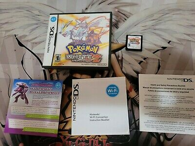 $105 • Buy Complete Authentic Tested Working Nintendo DS Video Game Pokemon White Version 2
