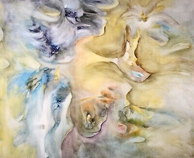 £0.99 • Buy Pierre Graziani (1932-2020) Large French Expressionist Oil - Clouds Nuagist