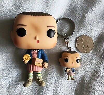 AU16.97 • Buy Funko Pop Vinyl Figure 421 Stranger Things Eleven With Eggos And Eleven Keyring