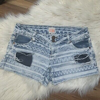 £5.82 • Buy GB Aztec Distressed Jean Shorts Size 7