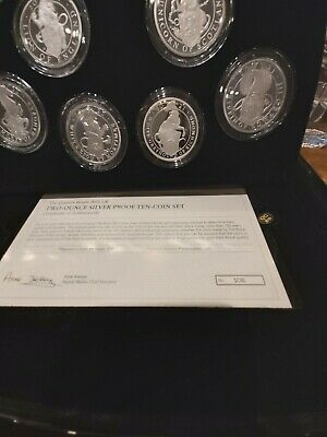 £2500 • Buy 2021 Royal Mint Queens Beast's 10 Coin Silver Proof Two Ounce Set 2oz - SOLD OUT