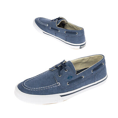 £19.99 • Buy SPERRY TOP-SIDER Canvas Deck Sneakers Size 44.5 UK 10 US 11 Garment Dye Lace Up