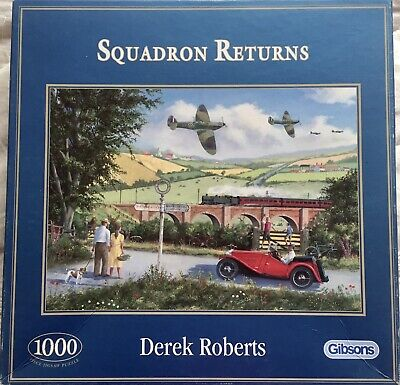 £1.50 • Buy Squadron Returns By Derek Roberts. 1000 Piece Jigsaw. A Gibsons Puzzle.