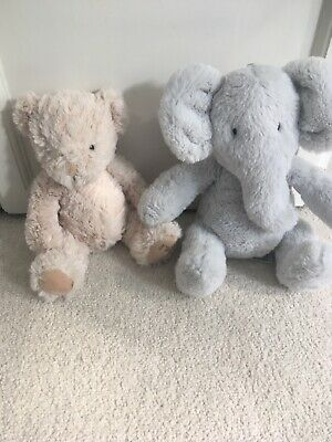 £2 • Buy Mothercare Soft Toy Elephant And Bear