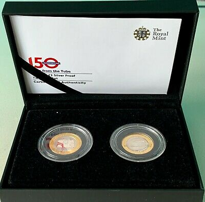 £250 • Buy 2013 150th Anniversary Of The London Underground Uk £2 Silver Proof Two-coin Set