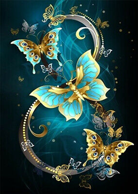 AU3.25 • Buy Full Drill 5D Diamond Painting Butterfly Number 8 Embroidery Cross Stitch Crafts