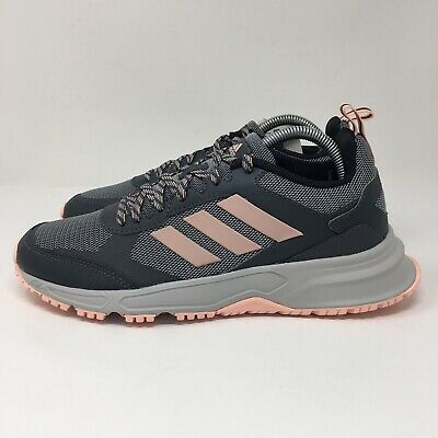 AU48.05 • Buy Adidas Rockadia Trail 3.0 (Women's Size 8) Running Sneakers Shoes Gray Pink