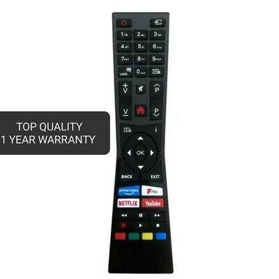 £5.15 • Buy New High Quality Replacement Remote Control For Logik Smart TV Model: L32SHE19